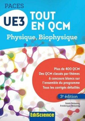 UE3 Tout en QCM - PACES - édiscience - 9782100753604 -