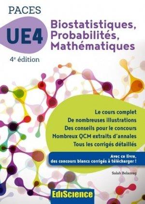 UE 4 Biostatistiques Probabilités Mathématiques - ediscience - 9782100794218
