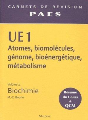 UE1 Vol 2 - Biochimie - maloine - 9782224030162 -