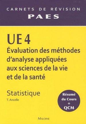 UE4 Statistique - maloine - 9782224030278 -