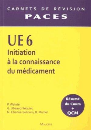 UE6 - Initiation à la connaissance du médicament - maloine - 9782224031336 -