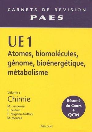 UE1 Vol 1 - Chimie - maloine - 9782224032067
