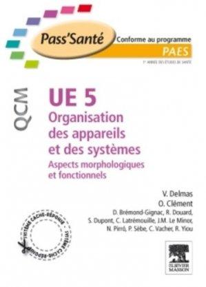 UE5 Organisation des appareils et des systèmes - elsevier / masson - 9782294708909 -