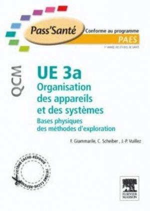 UE 3a Organisation des appareils et des systèmes - elsevier / masson - 9782294708992 -