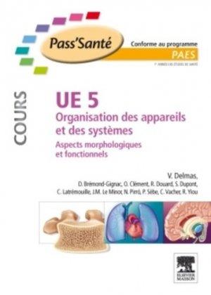 UE5 Organisation des appareils et des systèmes - elsevier / masson - 9782294710056 -