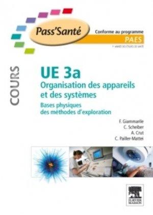 UE 3a Organisation des appareils et des systèmes - elsevier / masson - 9782294710094 -