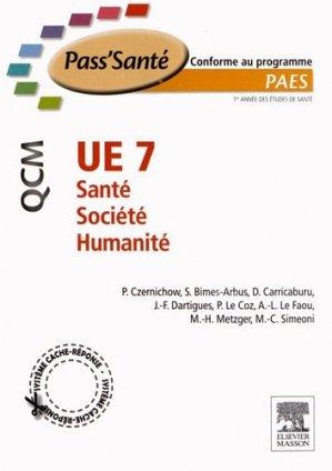 UE 7 - Santé - Société - Humanité - elsevier / masson - 9782294711244