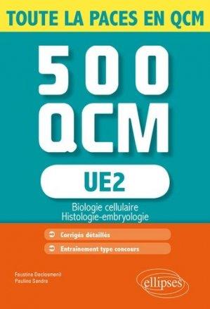 UE2 - 500 QCM - ellipses - 9782340001169 -
