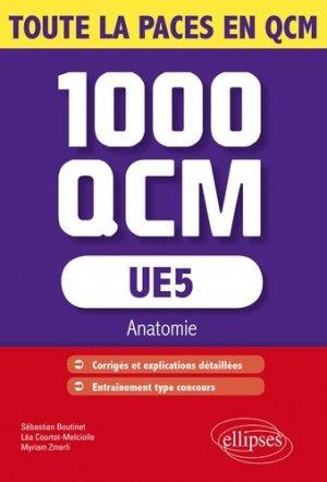 UE5 1000 QCM anatomie - ellipses - 9782340001176 -