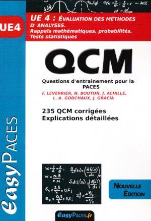 UE 4 Evaluation des méthodse d'analyses QCM - easy paces - 9782372810166 -