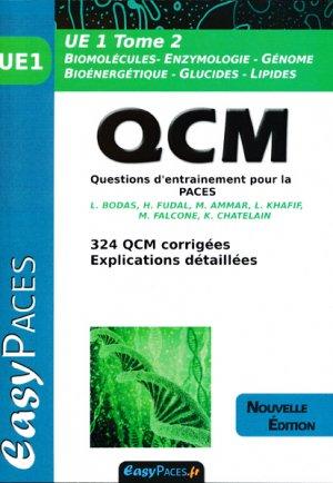 UE 1 Tome 2 QCM pour la PACES - easy paces - 9782372810203 -