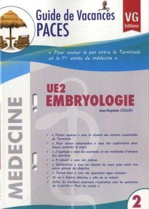 UE2 Embryologie - vernazobres grego - 9782818306024 -
