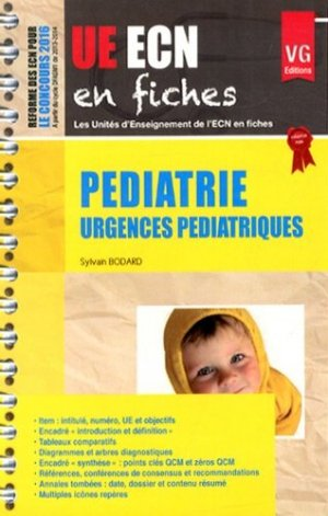 UE ECN en fiches Pédiatrie - vernazobres grego - 9782818310908 -