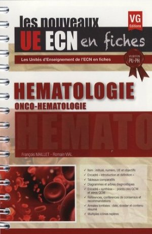 UE ECN en fiches Hématologie - vernazobres grego - 9782818315767 -