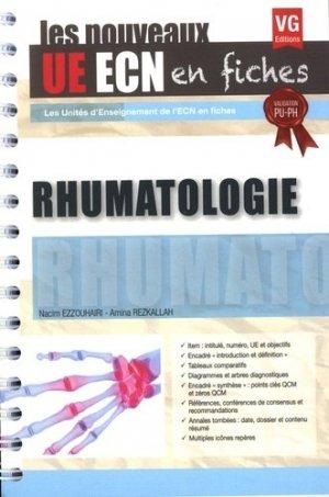 UE ECN en fiches Rhumatologie - vernazobres grego - 9782818316375 -