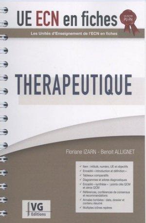UE ECN en fiches Thérapeutique - vernazobres grego - 9782818317440 -