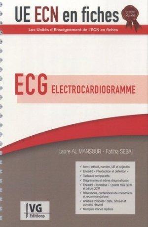 UE ECN en fiches ECG Électrocardiogramme - vernazobres grego - 9782818317587 -