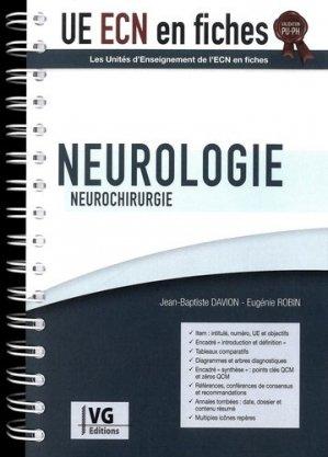 UE ECN en fiches Neurologie Neurochirurgie - vernazobres grego - 9782818317976 -