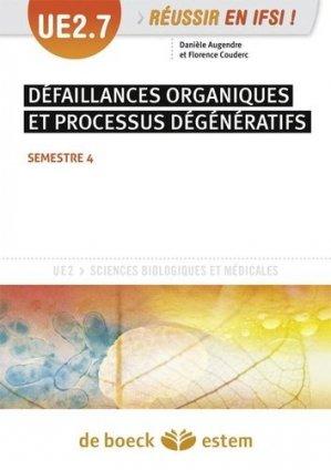 UE 2.7 défaillances organiques et processus dégénératifs semestre 4 - estem - 9782843717895 -