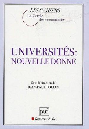 Universités : nouvelle donne - puf - presses universitaires de france - 9782130568964 -