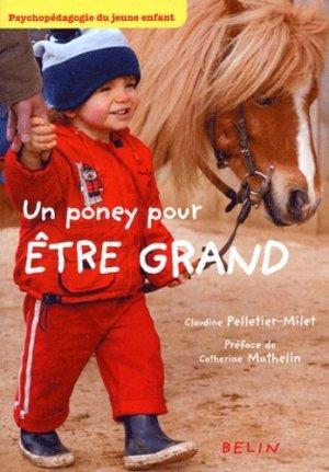 Un poney pour être grand - belin - 9782701135922 -
