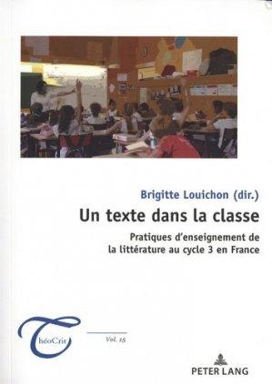 Un texte dans la classe - Peter Lang - 9782807614246 -