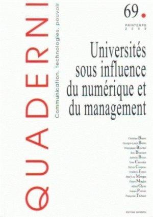 Universités sous influence du numérique et du management - Sapientia - 9782911761652 -