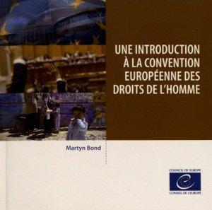 Une introduction à la Convention européenne des droits de l'homme - conseil de l'europe - 9789287186119 -