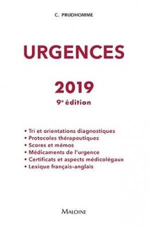 Urgences 2019 - maloine - 9782224035686 -