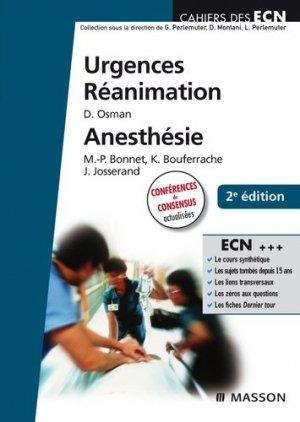 Urgences - RéanimationAnesthésie - elsevier / masson - 9782294708848 -