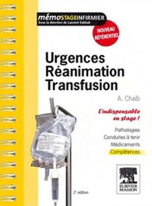 Urgences Réanimation Transfusion - elsevier / masson - 9782294713552 -