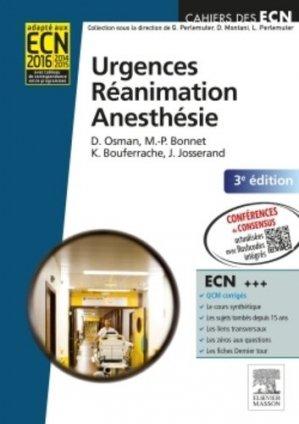 Urgences  RéanimationAnesthésie - elsevier / masson - 9782294731464 -