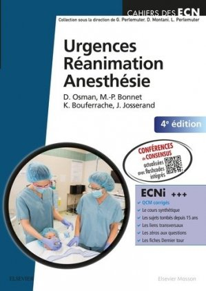 Urgences  RéanimationAnesthésie - elsevier / masson - 9782294749551 -