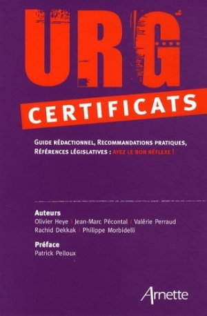 Urg' certificats - arnette - 9782718412047
