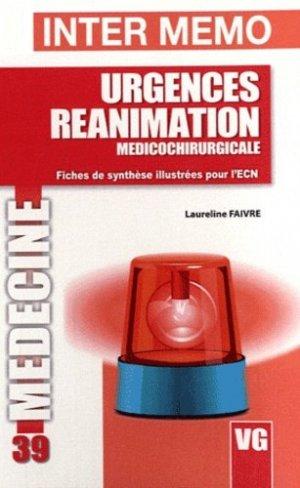 Urgences Réanimation - vernazobres grego - 9782818304891 -