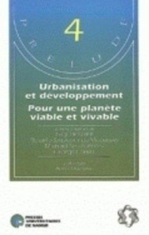 Urbanisation et développement - presses universitaires de namur - 9782870372463 -