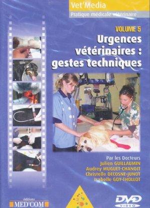 Urgences vétérinaires : gestes techniques - med'com - 9782914738798 -