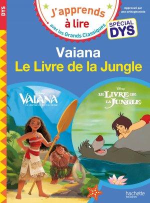 Vaiana/Le livre de la jungle - Spécial dyslexie - hachette - 9782016255438 -