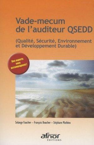 Vade-mecum de l'auditeur QSEDD - afnor - 9782122191217 -