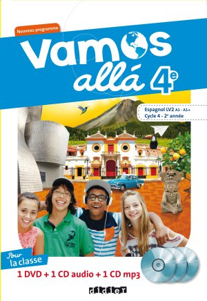 Vamos allá 4e LV2 : Coffret pour la Classe 2 CD Audio et 1 DVD - Didier - 9782278088287 -