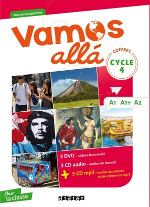 Vamos allá Cycle 4 LV2 A1-A1+-A2 : Coffret pour la Classe 3 CD Audio, 3 CD MP3, 3 DVD - didier - 9782278090686 -