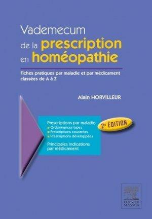 Vademecum de la prescription en homéopathie - elsevier / masson - 9782294770500 -