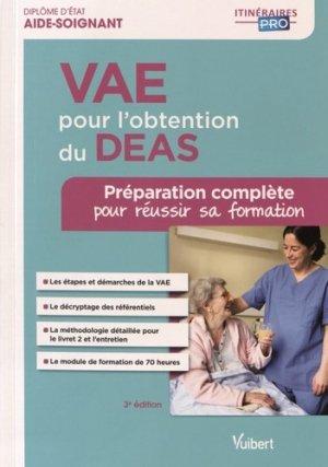 VAE pour l'obtention du DEAS - vuibert - 9782311202632