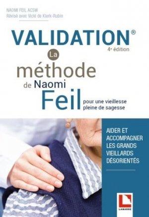 Validation - La méthode de Naomi Feil - lamarre - 9782757310113 -