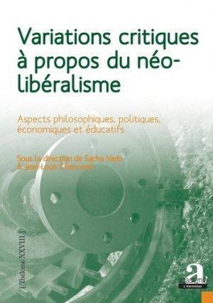 Variations critiques à propos du néolibéralisme - Academia/L'Harmattan - 9782806105660 -