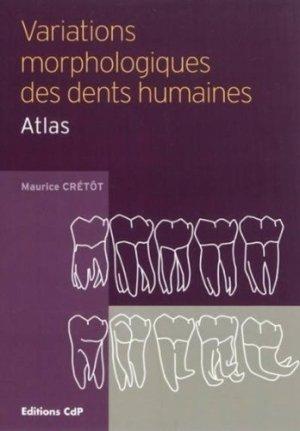 Variations morphologiques des dents humaines - cdp - 9782843611636 -