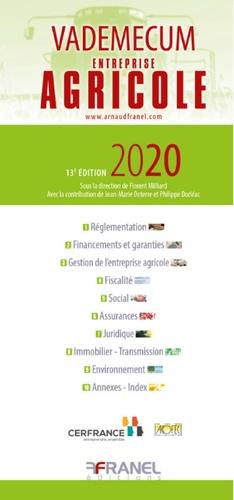 Vademecum De L Entreprise Agricole Edition 2020 Cerfrance
