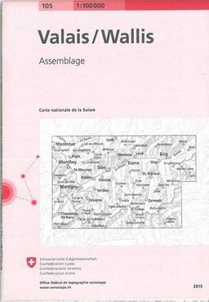 Valais Wallis - Bundesamt Fur Landestopographi - 9783302501055 -