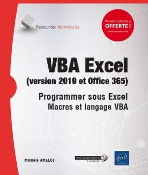 Vba excel (version 2019 et office 365) - eni - 9782409018671 -