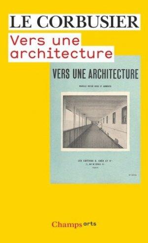 Vers une architecture - Flammarion - 9782081217447 -